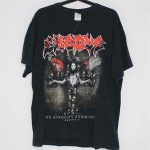 Exodus  Exhibition Rock Tour Band T-Shirt G419